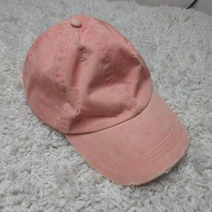 David and Young pink distressed hat